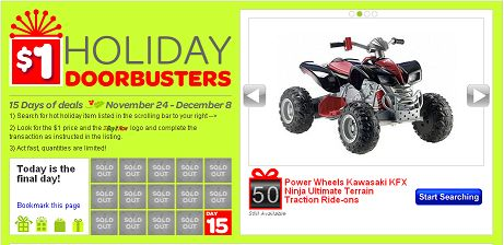 eBay Holiday Doorbuster Offer